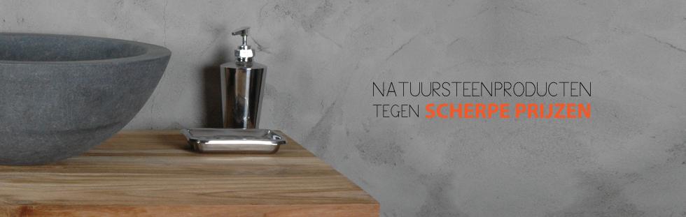 Badkamermeubel Hout Natuursteen : Puur natuursteenproducten